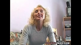 Busty Blonde Granny Gets...