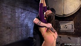 Tied up babe gets...