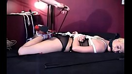 Irresistable breasty playgirl gets aroused by being restrained