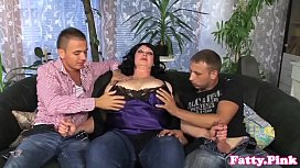 Bigtitted bbw spitroasted in...