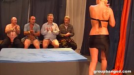 Horny mature German gangbang action with sticky guys