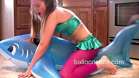Horny Slut Grinds Inflatable...