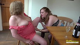 OldnannY Auntie Trisha and Lily Lesbian Matures