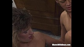 Smalltit Blonde MILF Sucking...