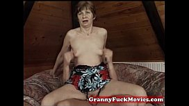 Granny pounding younger tasty...