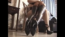 Experienced red-haired bitch and her brunette friend punish naughty chick in different ways