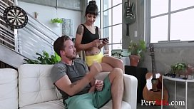 Brunette Sister Gets Nasty WIth Brother- Kitty Carrera &amp_ Sofie Reyez