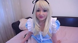 Alice in Wonderland nice pussy masturbation