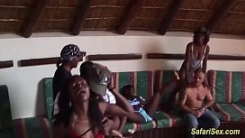 Wild african sex party...