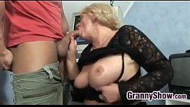 Horny Grandma In Fishnets...
