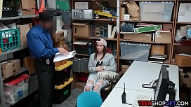 Amateur shoplifter teen busted...