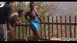 2 Africans are abused and suck cock in the rains-3 xnxx image
