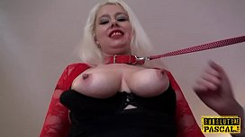 Leashed british slut submited...