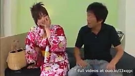Horny Daddy Sits Beside and Seduces the Cute Teen Wearing Kimono