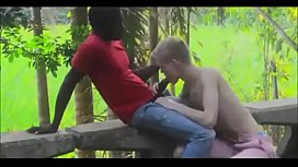 Cute blonde twink takes a BBC in his tight ass outdoors
