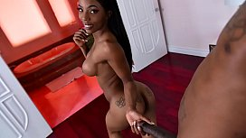 Horny black stepbro fucks his stepsister like there's no tomorrow
