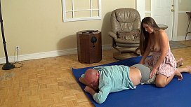 Madisin Lee d. fucks stepdad until he cums