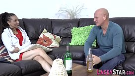 Blonde grandma with big tits gets pounded
