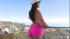 Hot teen Jillian enjoys...