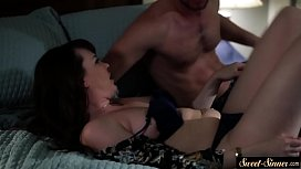 Busty stepmom drenched with...