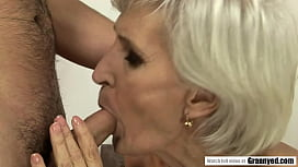 Blonde Spinner GILF Viviana Tastes some Young Dick