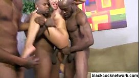 Two black cocks force...