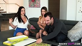 My stepmom joins to us! - Lea Lexis and Kristen Scott