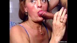 Granny takes young cock...