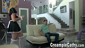 Young Guy Creampies Maid...
