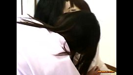 5 Asian Girls In Shirts Kissing Spitting Licking Faces On The Floor In The Room