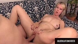 Slutty British Grandma Jamie Foster Gets Licked and Dicked