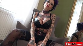 Inked up MILF bitch...