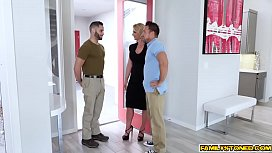 Army Boi stepson licks Phoenix Maries milf pussy from behind!