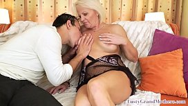 Curvy granny fingered and banged by her lover