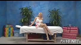 Hot eighteen year old gets screwed hard by her massage therapist