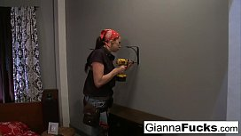 Big tit repairwoman Gianna...