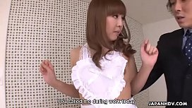 Lusty Japanese gal receives finger banging and smashing with creampie