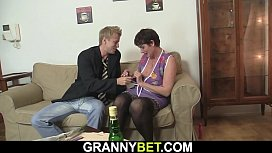 Fuck date with hot hairy old grandma