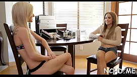Miniature nubile cowgirl has an astonishing casting session
