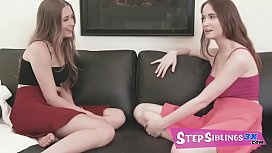 Audrey Hempburne and Hazel Moore are sultry sisters who share everything. - FULL SCENE on http://www.StepSiblings3x.com