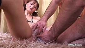 Teenager catching cum from...