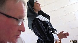 Sexy young nun has...