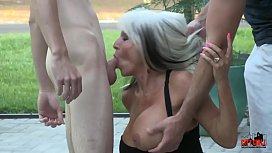 Young guys make mature MILF DP fuck them anal  Sally D'_angelo