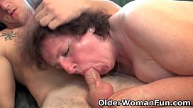 Chubby granny gets drilled...