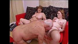 Crazy orgy with grandpa...