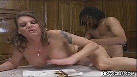 Mature Interracial action with a hot MILF