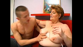 Mature fat granny hungry skin head young man sex