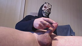 My solo 178 (Monsterbator spurting his cum in cock sling)