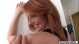 Redhead Lilith gets hammered...