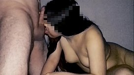 I sucked and fuck my uncle'_s cock until he came in my boobs